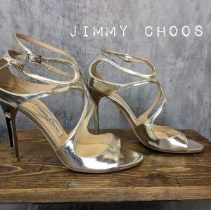 "Jimmy Choos ""Lance"" in silver mirror  💅"